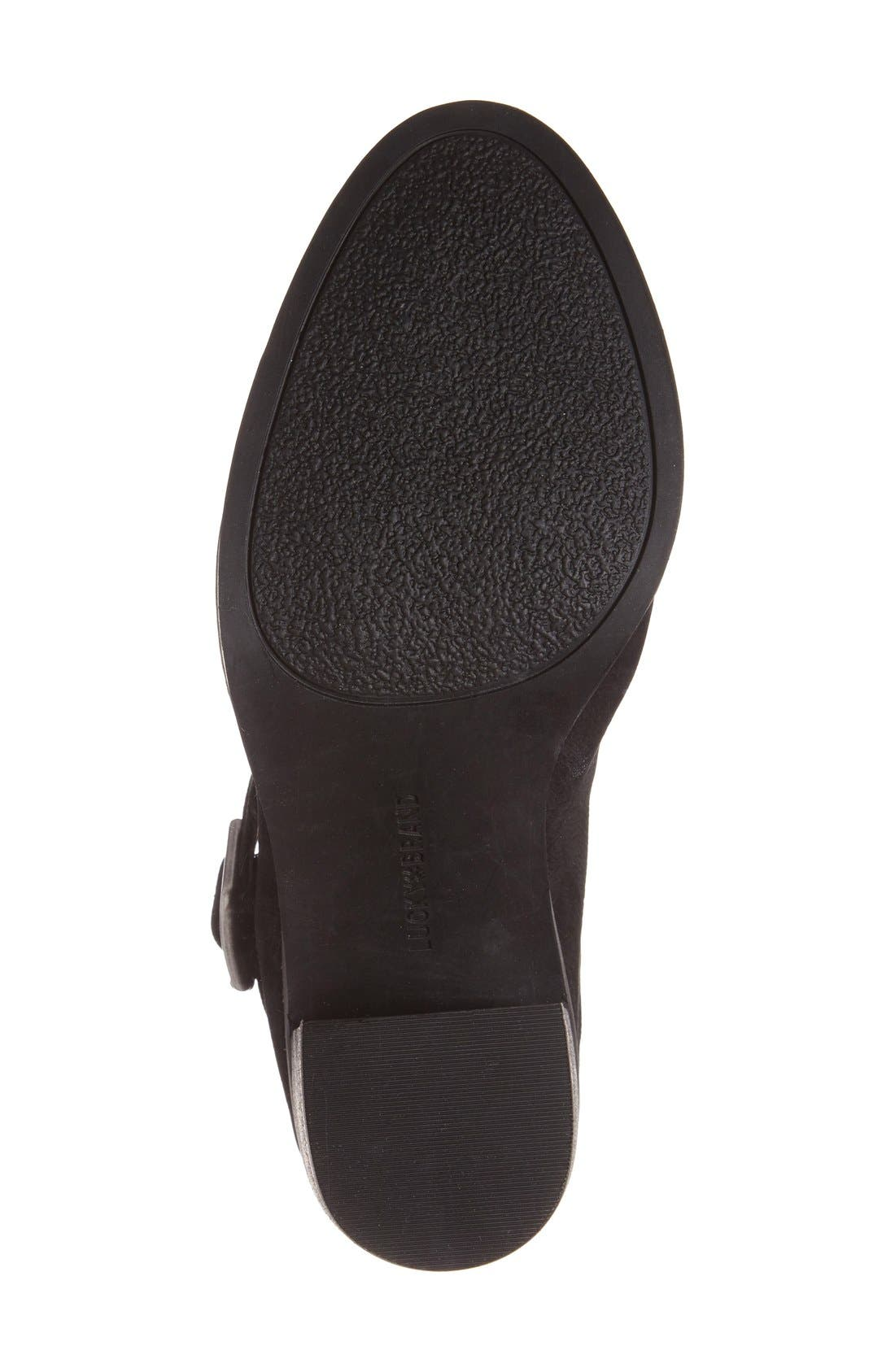 'Machiko' Slingback Clog,                             Alternate thumbnail 4, color,                             Black Leather