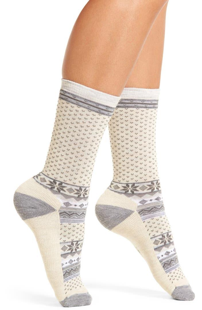 Smartwool 39 cozy cabin 39 crew socks nordstrom for Warm cabin socks
