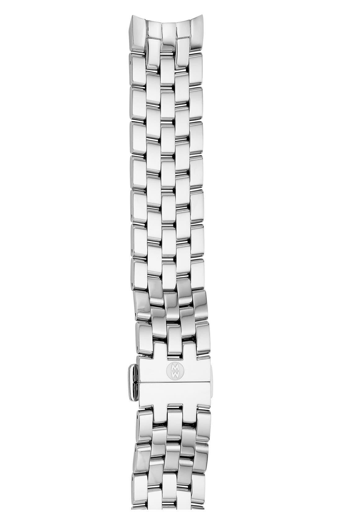 18mm Belmore Bracelet Watch Band,                         Main,                         color, Silver