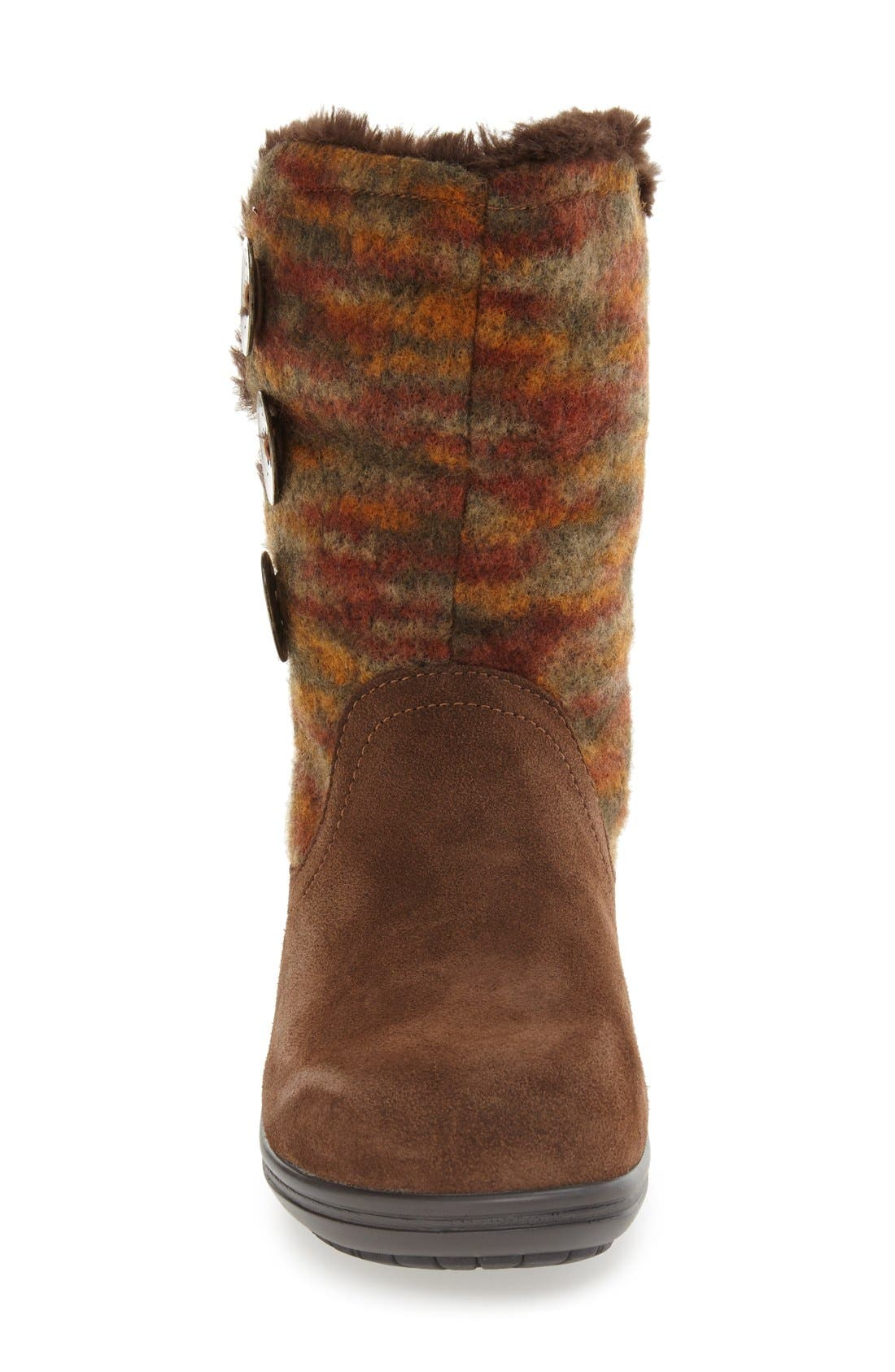 'Nanook' Suede Boot,                             Alternate thumbnail 3, color,                             Pecan Fuzzy Leather
