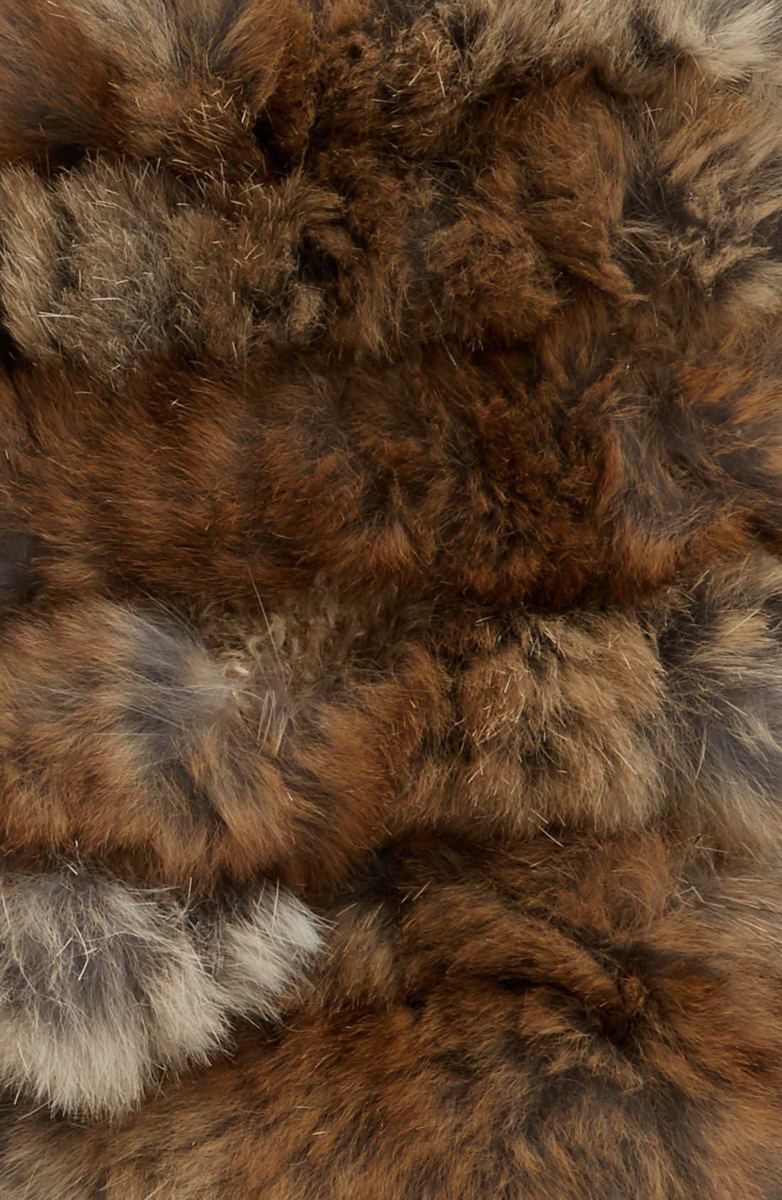 Alternate Image 2  - Jocelyn Genuine Rabbit Fur Fingerless Mittens