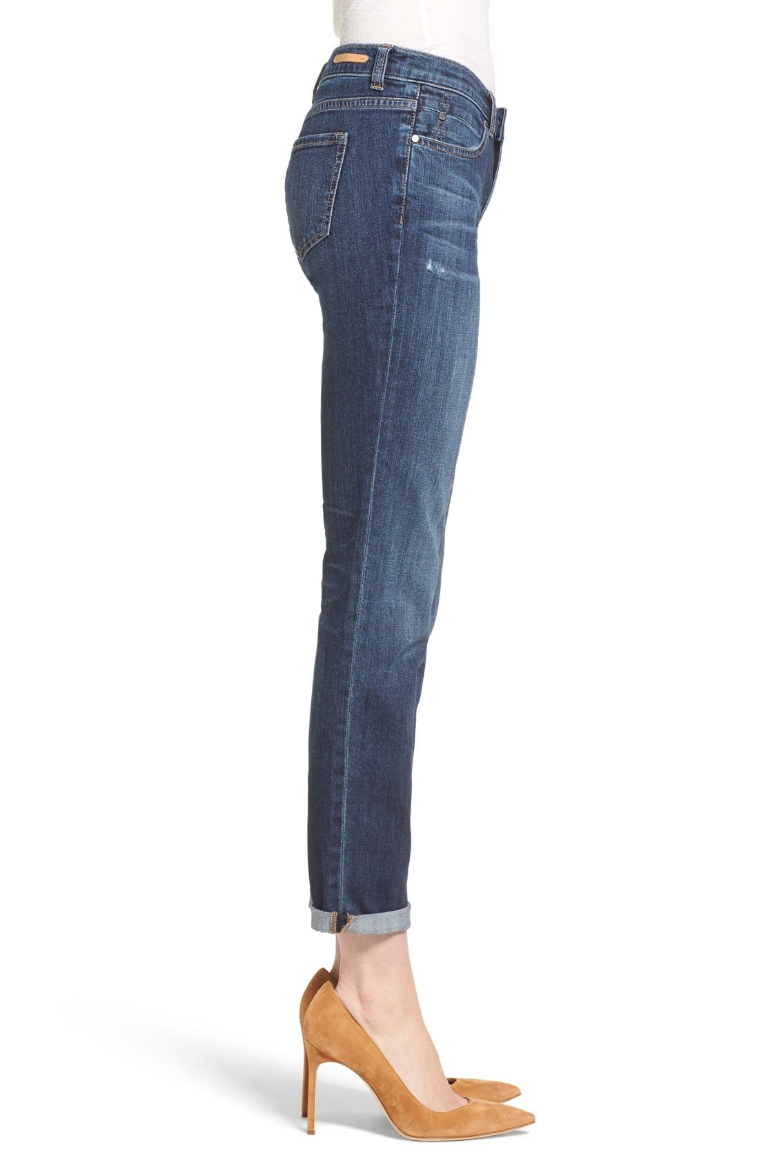 Boyfriend Jeans,                             Alternate thumbnail 3, color,                             Mirage Wash