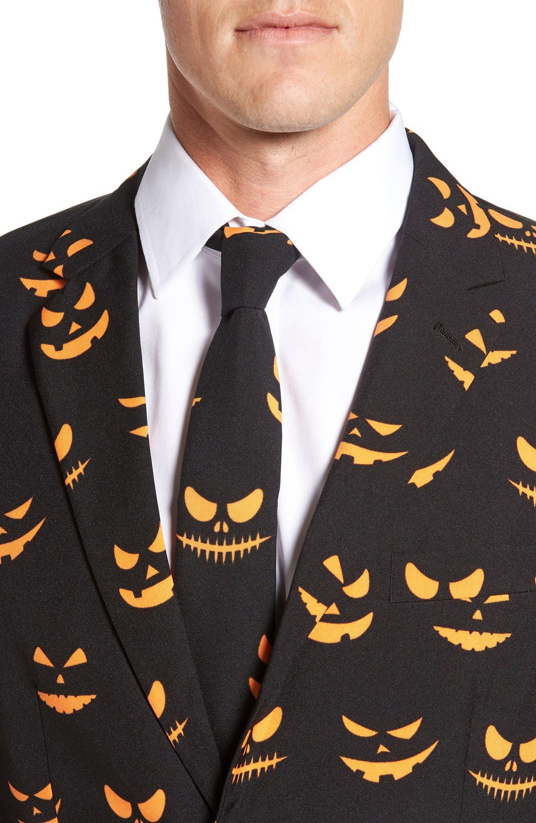Alternate Image 4  - OppoSuits 'Black-O Jack-O' Trim Fit Suit with Tie