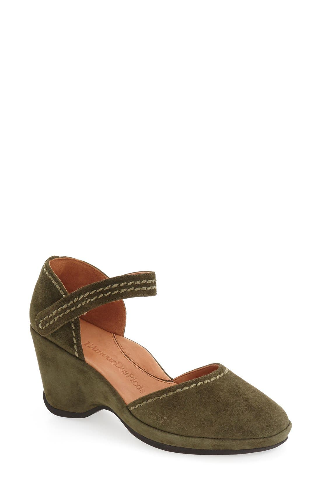 Alternate Image 1 Selected - L'Amourdes Pieds'Orva' Wedge Sandal (Women)