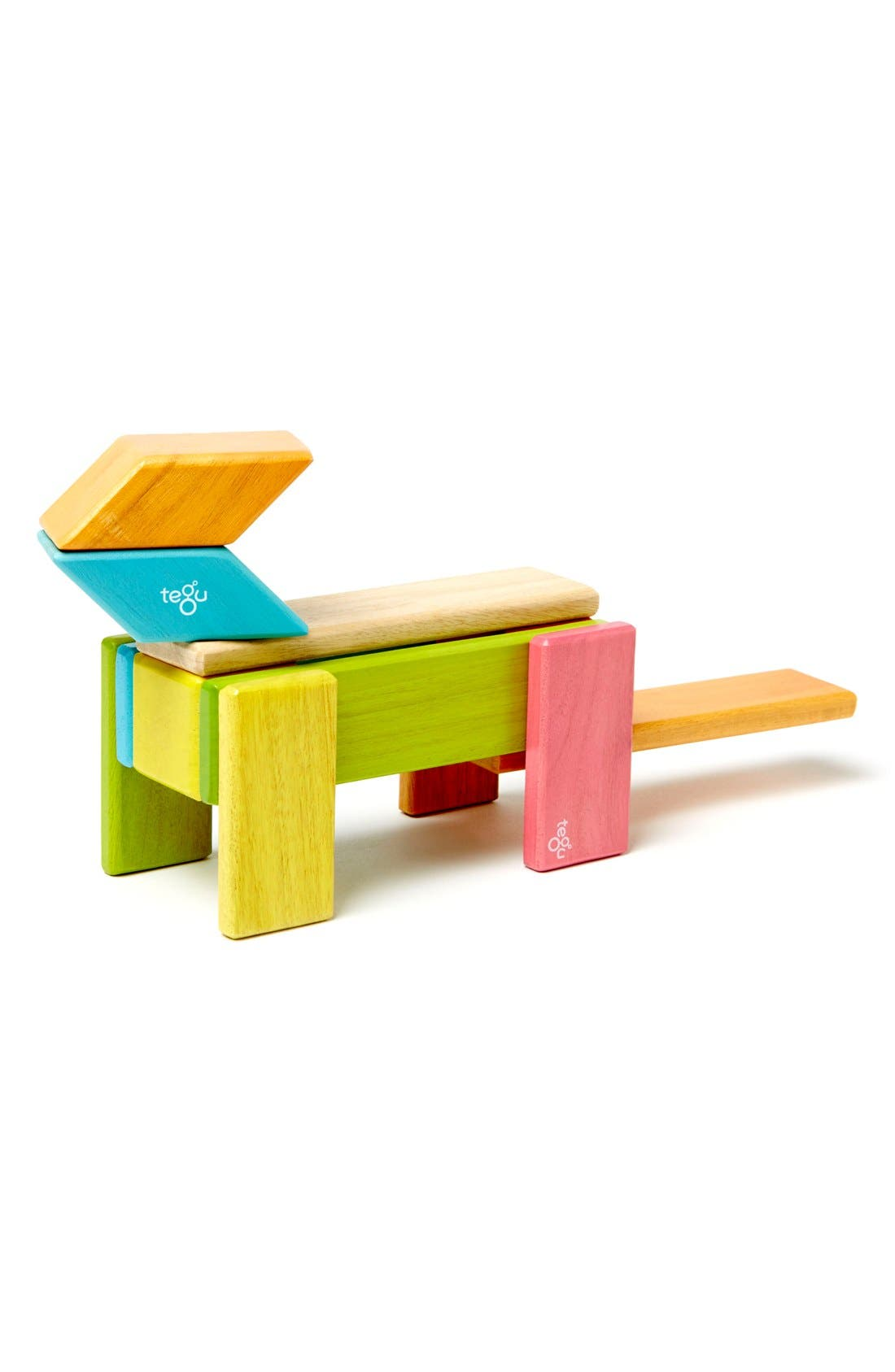 Alternate Image 4  - Tegu 'Classics - Blues' Magnetic Wooden Blocks Play Set