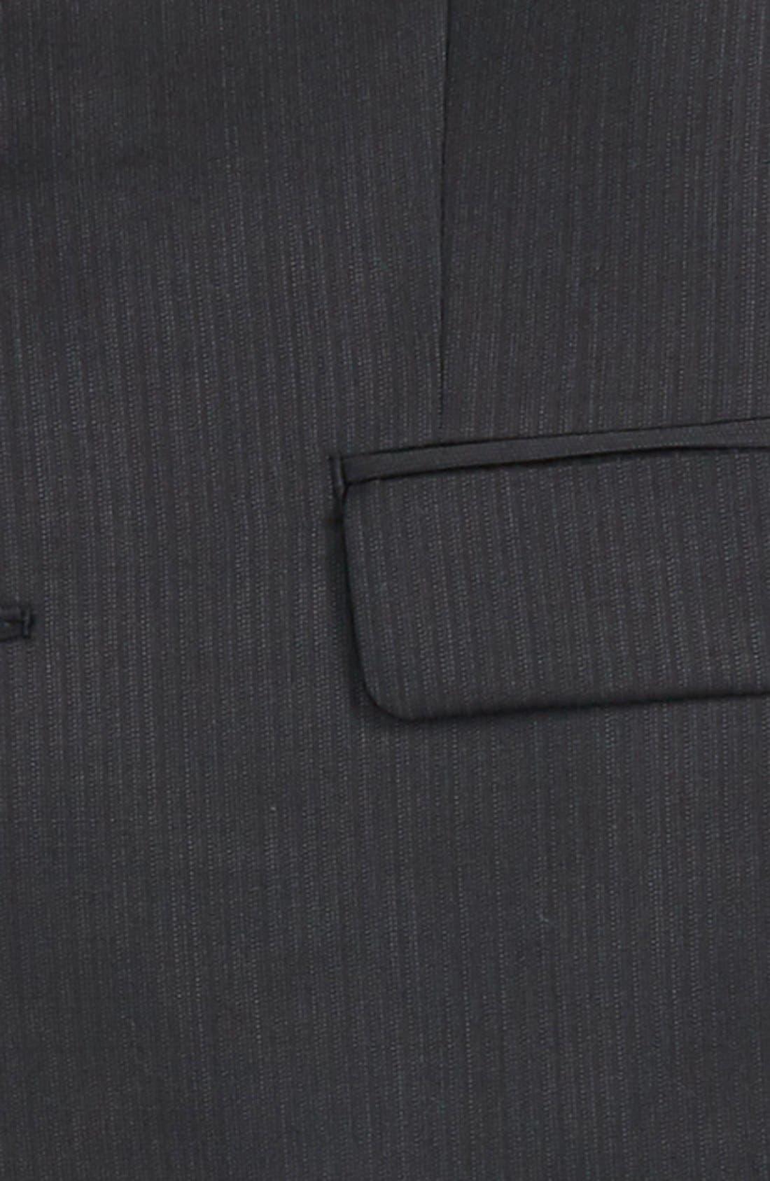 Neat Wool Suit,                             Alternate thumbnail 2, color,                             Black
