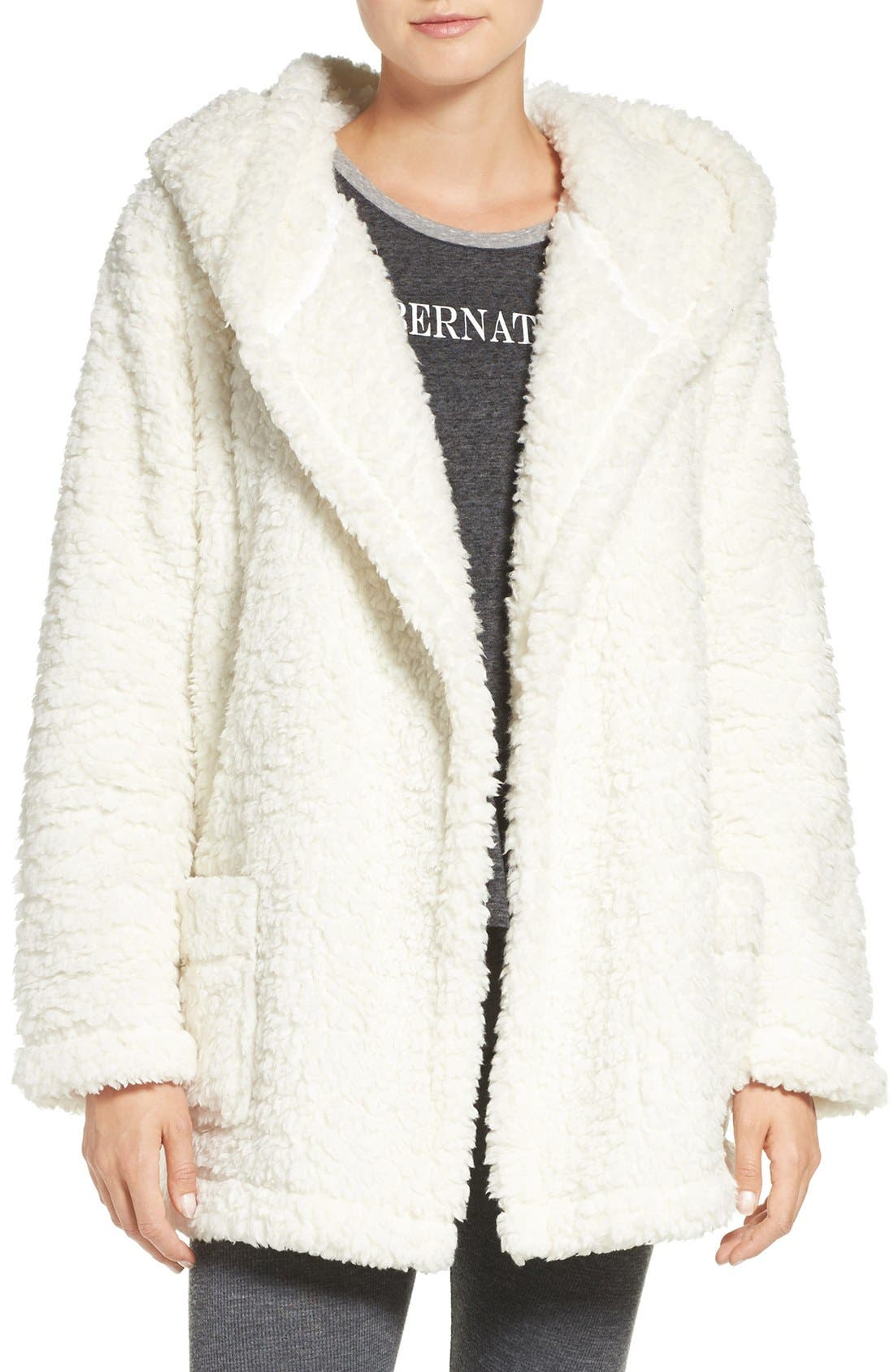 Alternate Image 1 Selected - Make + Model 'Oh So Cozy' Hooded Cardigan