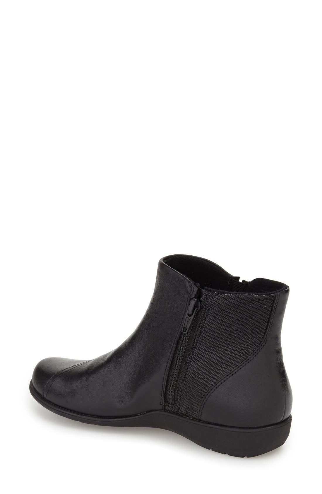 'Anstice' Wedge Bootie,                             Alternate thumbnail 2, color,                             Black Leather