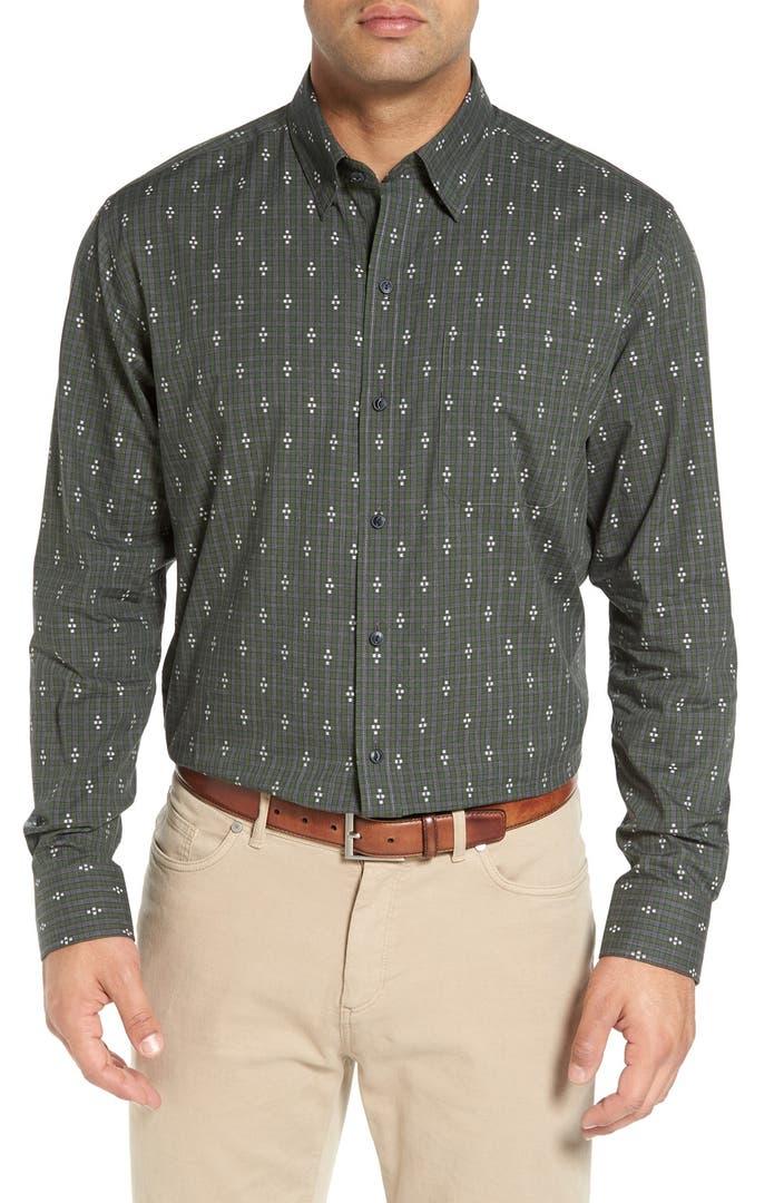 Cutter buck 39 maxwell 39 jacquard check sport shirt big for Big n tall shirts