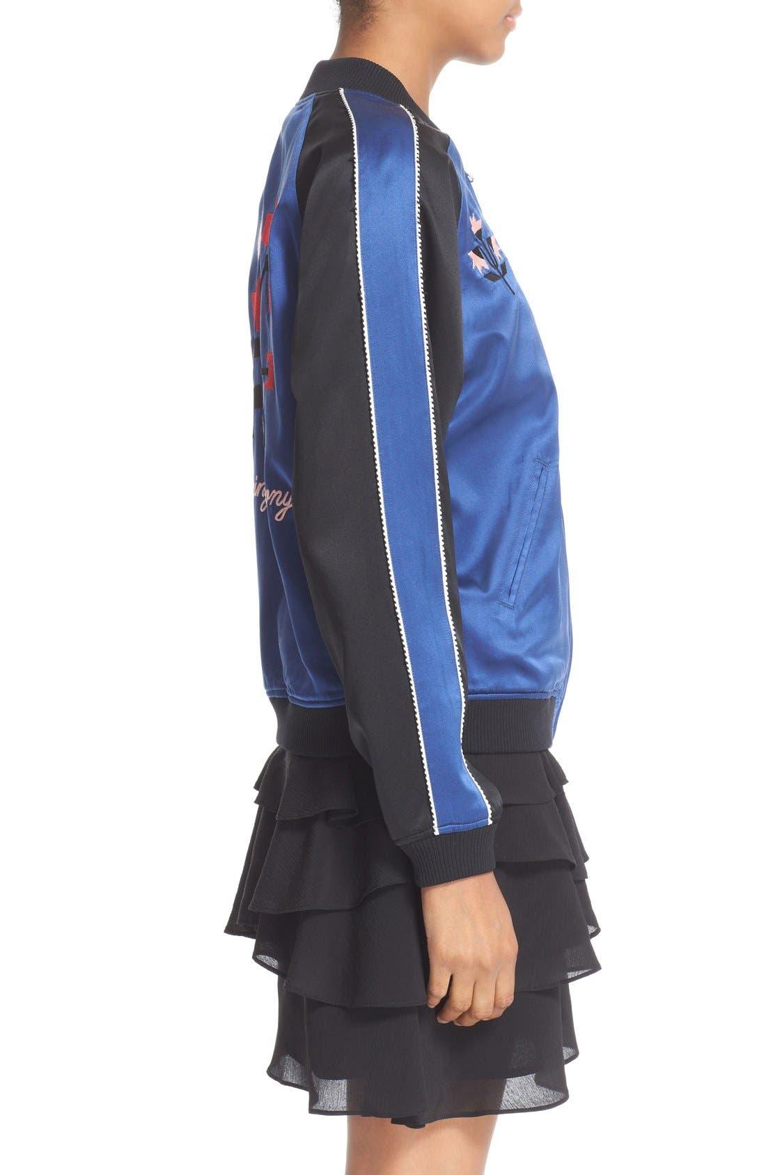 Alternate Image 5  - Opening Ceremony Reversible Embroidered Silk Bomber Jacket