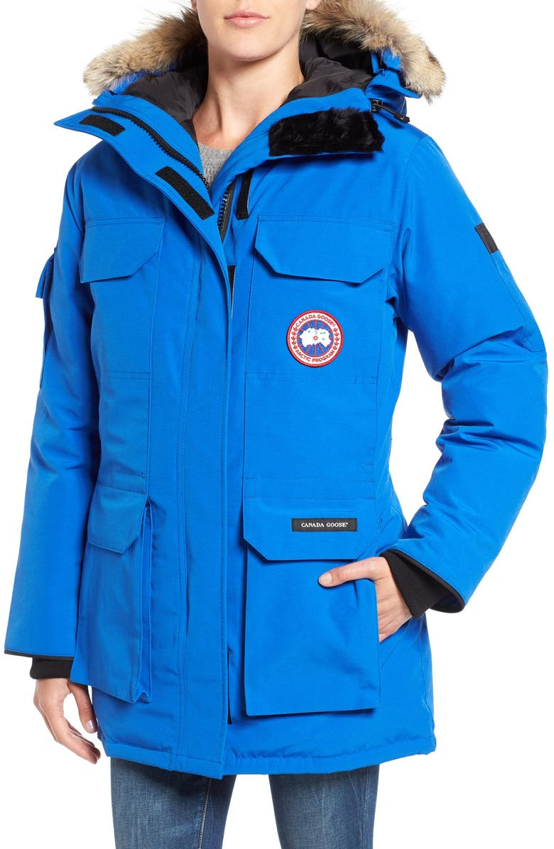 PBI Expedition Hooded Down Parka with Genuine Coyote Fur Trim