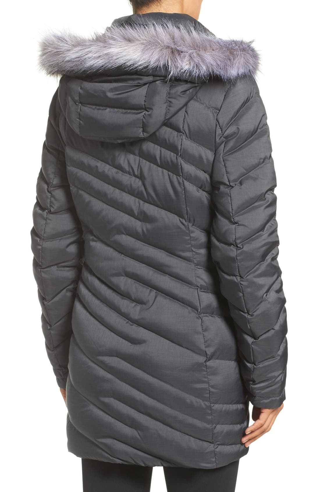 Alternate Image 2  - Spyder Faux Fur Trim Down Jacket