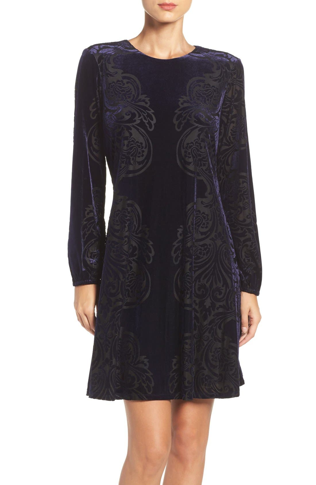 Main Image - Eliza J Velvet A-Line Dress