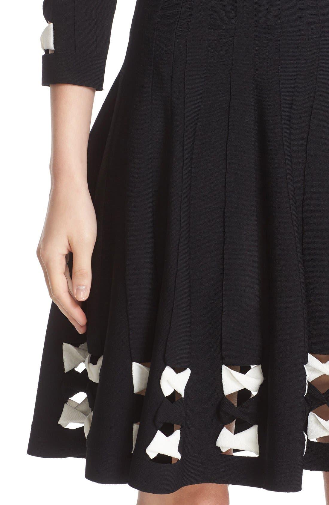 Alternate Image 5  - Alexander McQueen Twisted Cutout Skirt