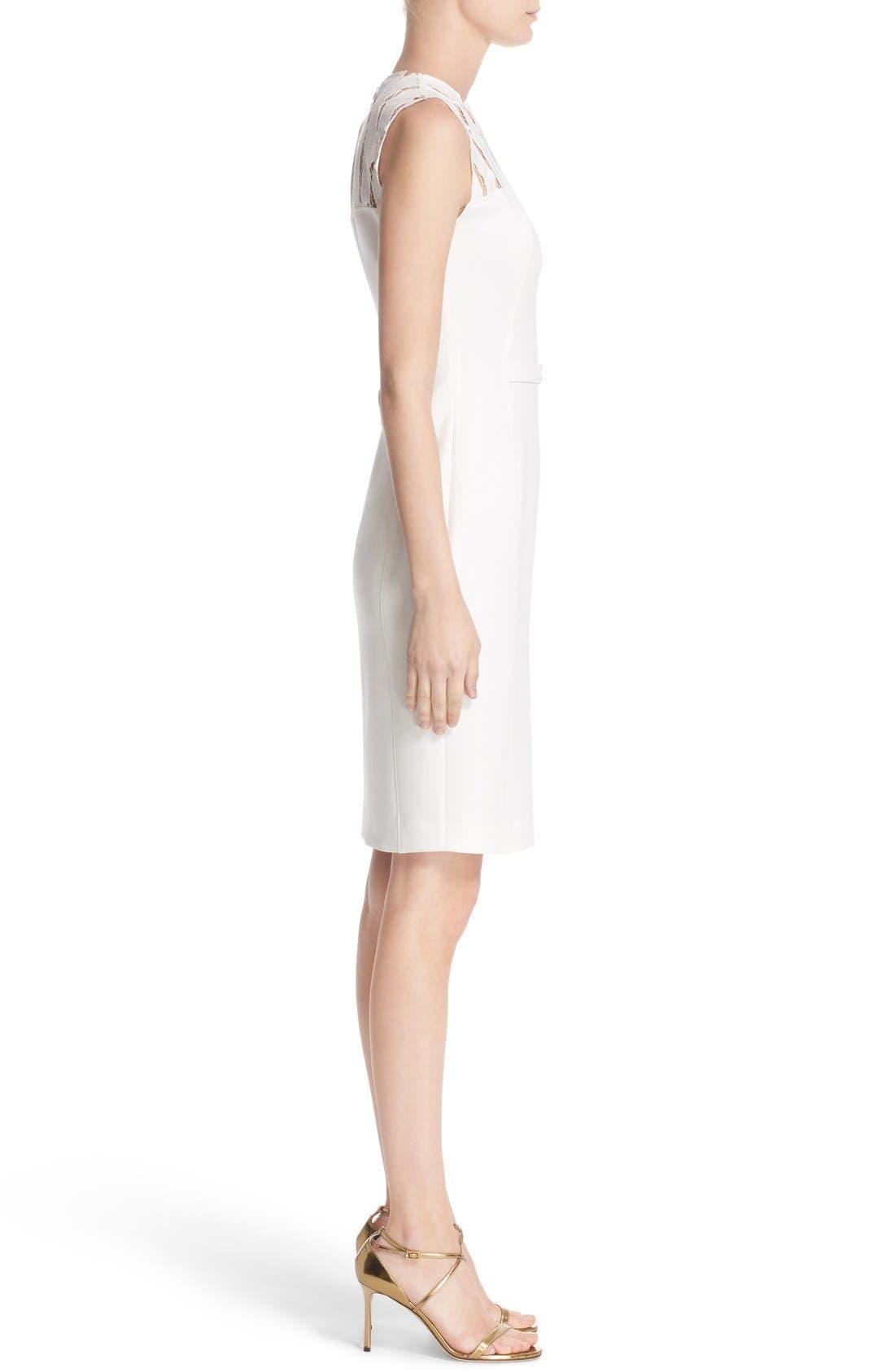 Alternate Image 5  - Versace Cutout Bodice Stretch Cady Sheath Dress