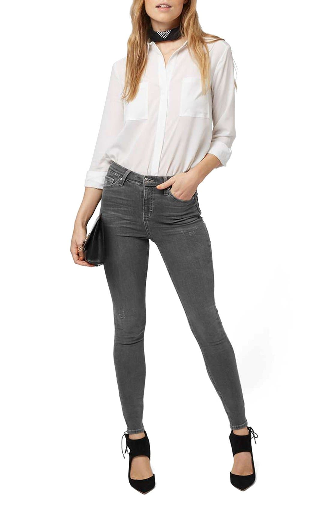 Alternate Image 2  - Topshop Jamie High Rise Ankle Skinny Jeans