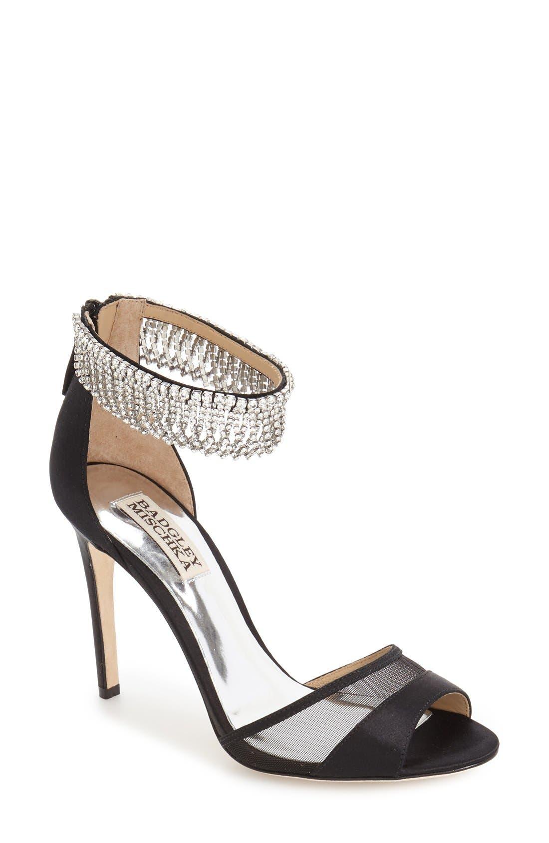 Alternate Image 1 Selected - Badgley Mischka 'Gazelle' Ankle Strap Sandal (Women)