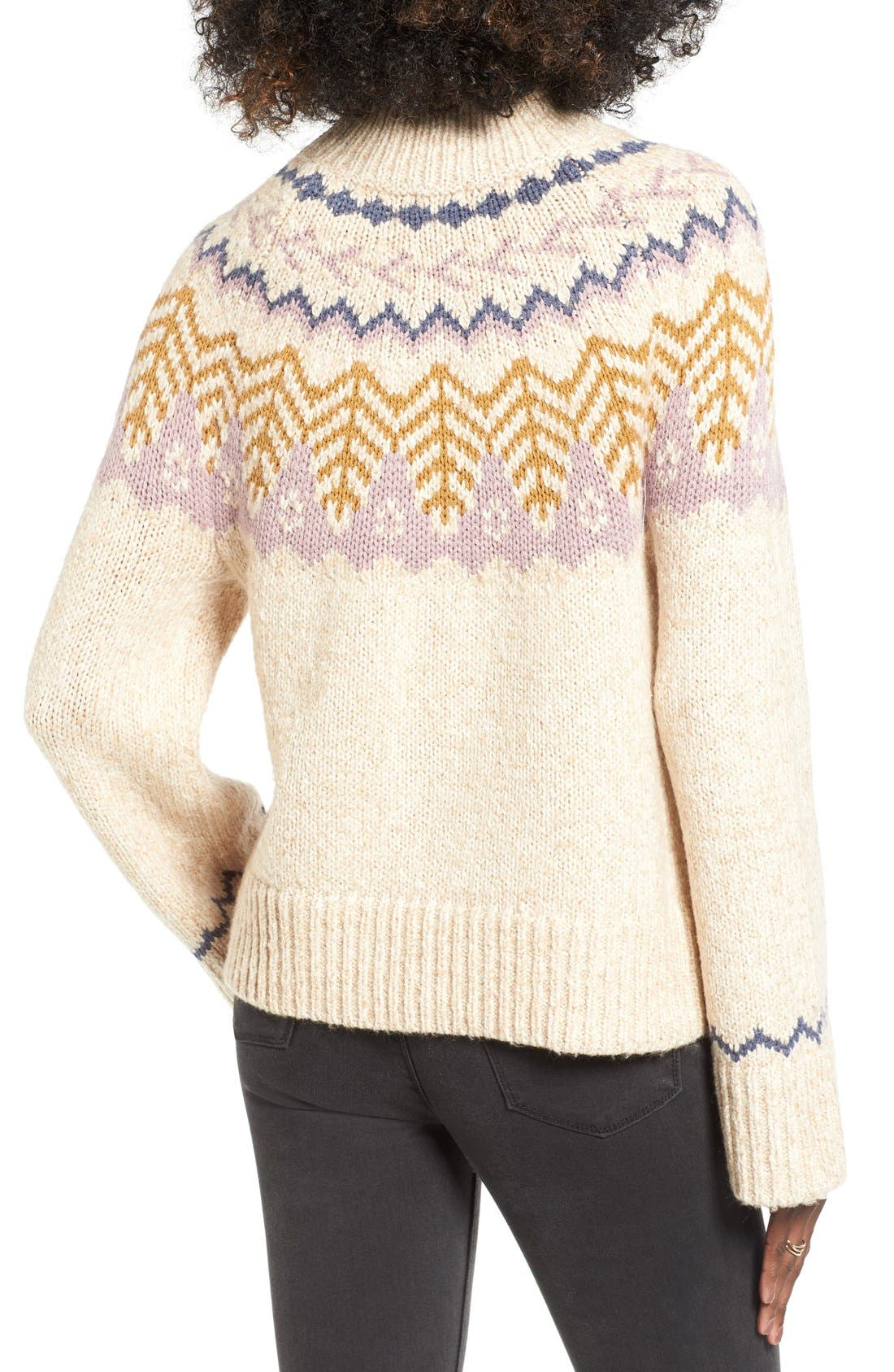 Alternate Image 2  - BP. Fair Isle Knit Pullover