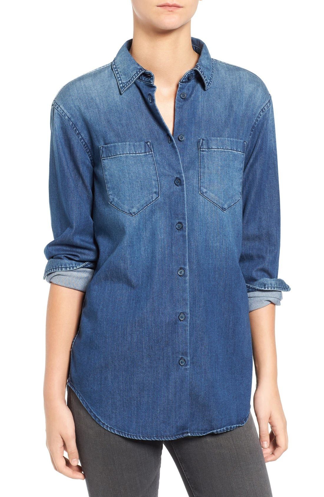 Alternate Image 1 Selected - AG Hartley Chambray Shirt
