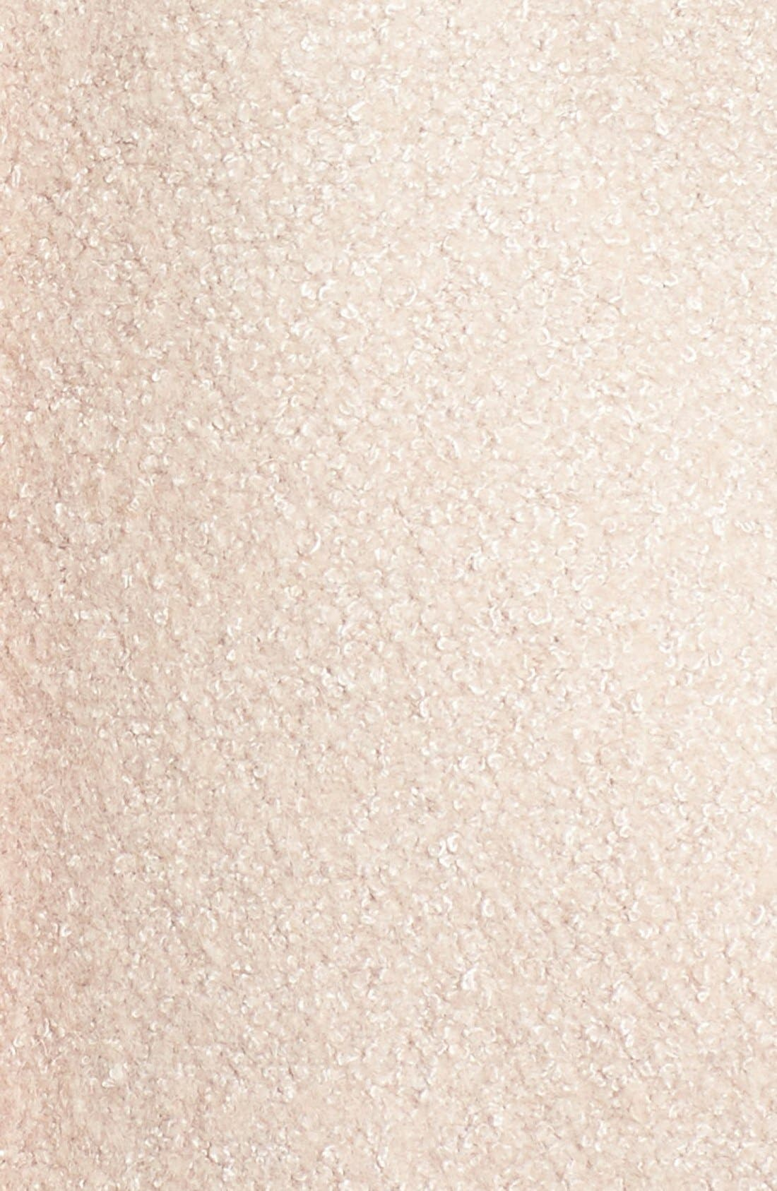 Single Breasted Ruffle Hem Coat,                             Alternate thumbnail 5, color,                             Nude