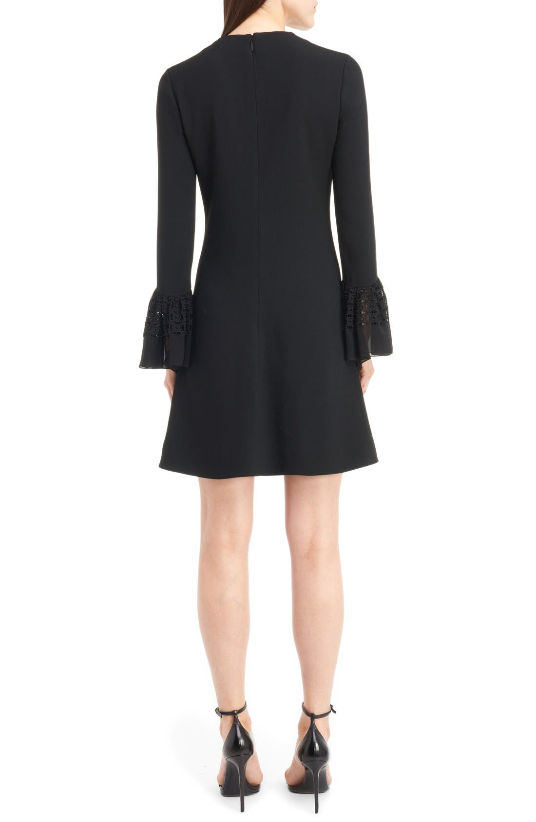 Alternate Image 2  - Saint Laurent Lace Flutter Sleeve Babydoll Dress