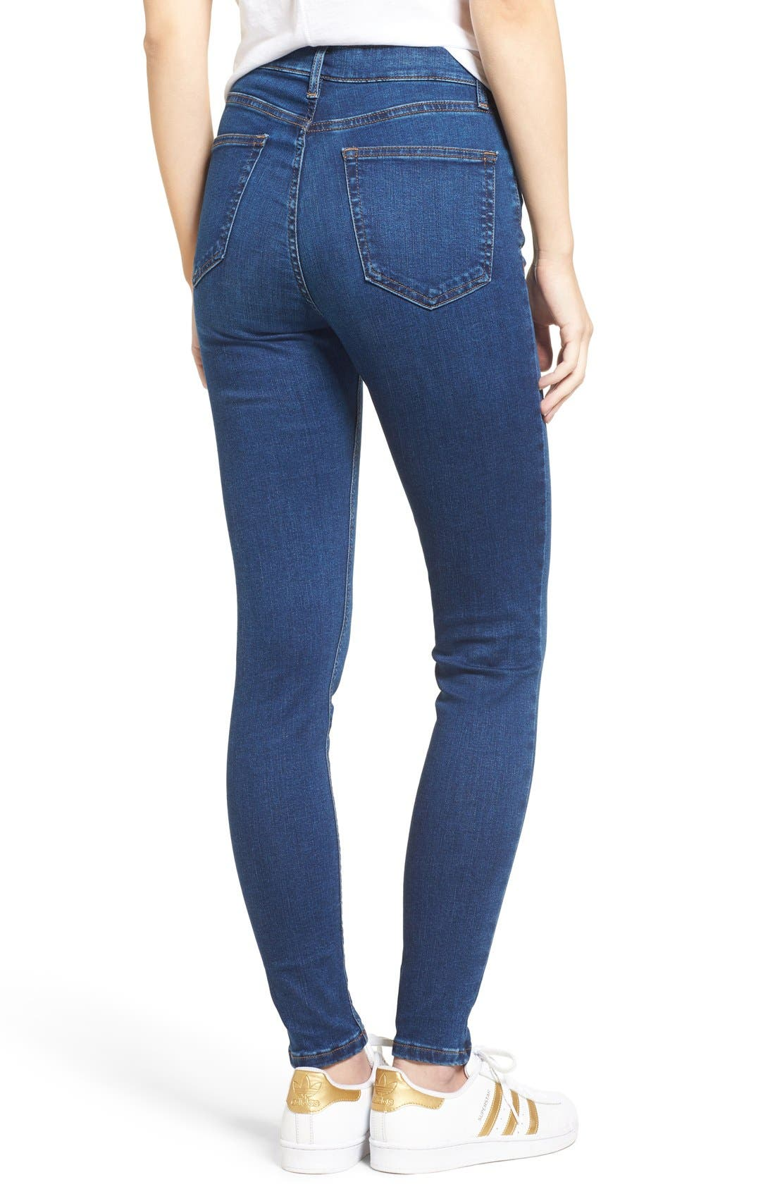 Alternate Image 3  - Topshop Jamie High Waist Ankle Skinny Jeans