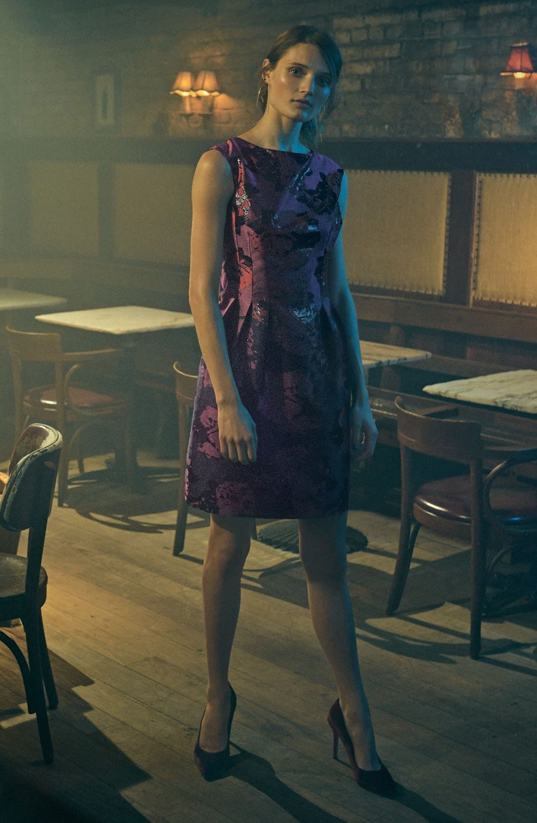 Alternate Image 6  - Vince Camuto Jacquard Fit & Flare Dress (Regular & Petite)