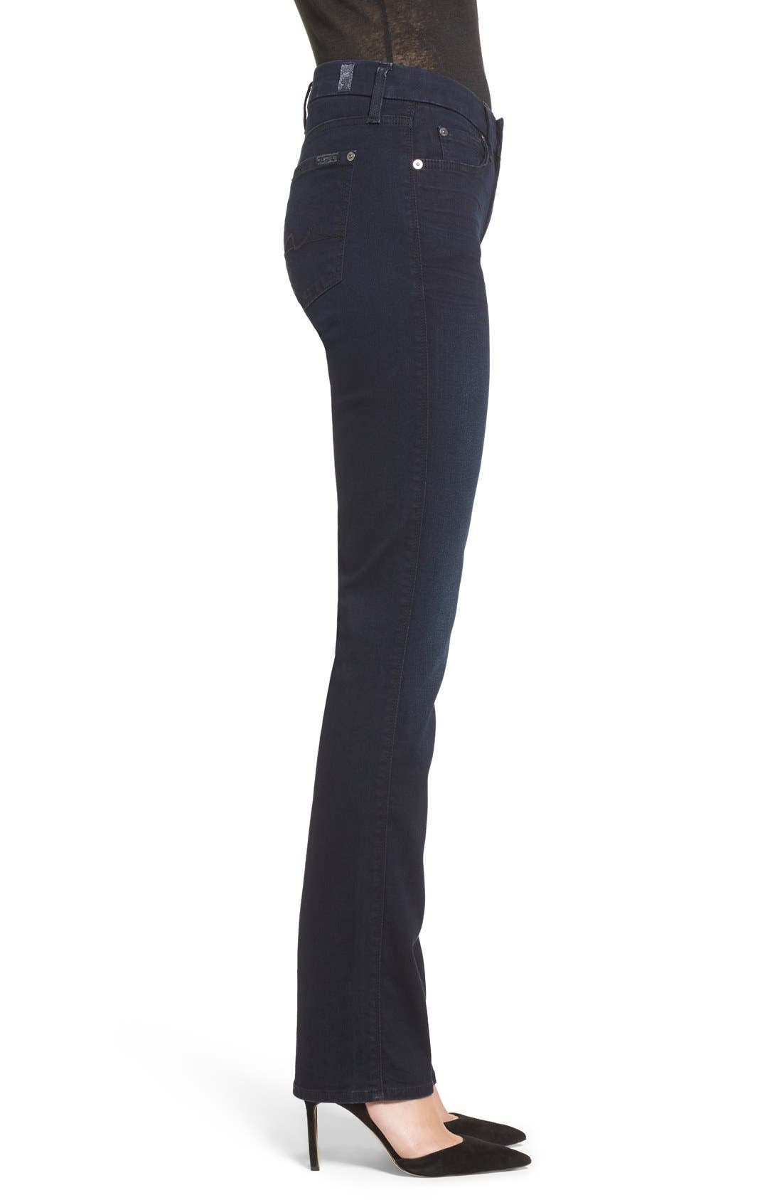 Alternate Image 3  - 7 For All Mankind® 'b(air) - Kimmie' Straight Leg Jeans (Blue Black River Thames)