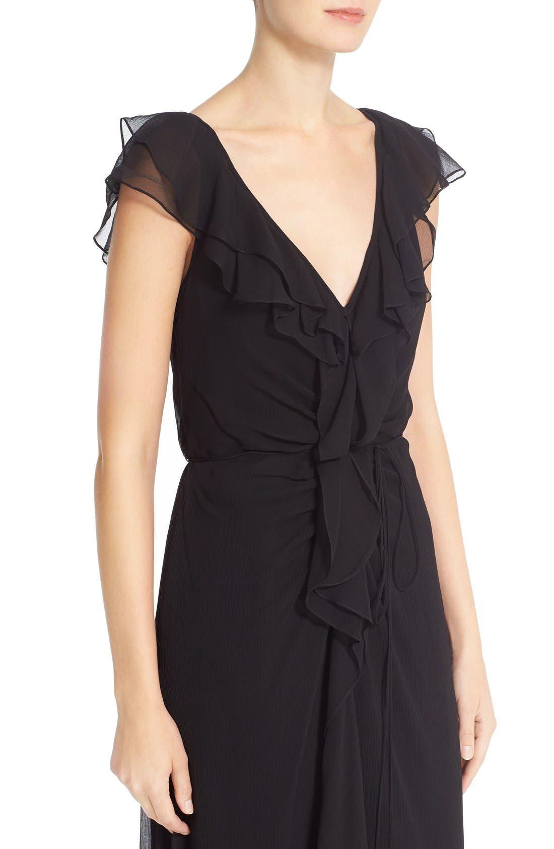 Alternate Image 5  - Carolina Herrera Ruffled Chiffon Column Gown
