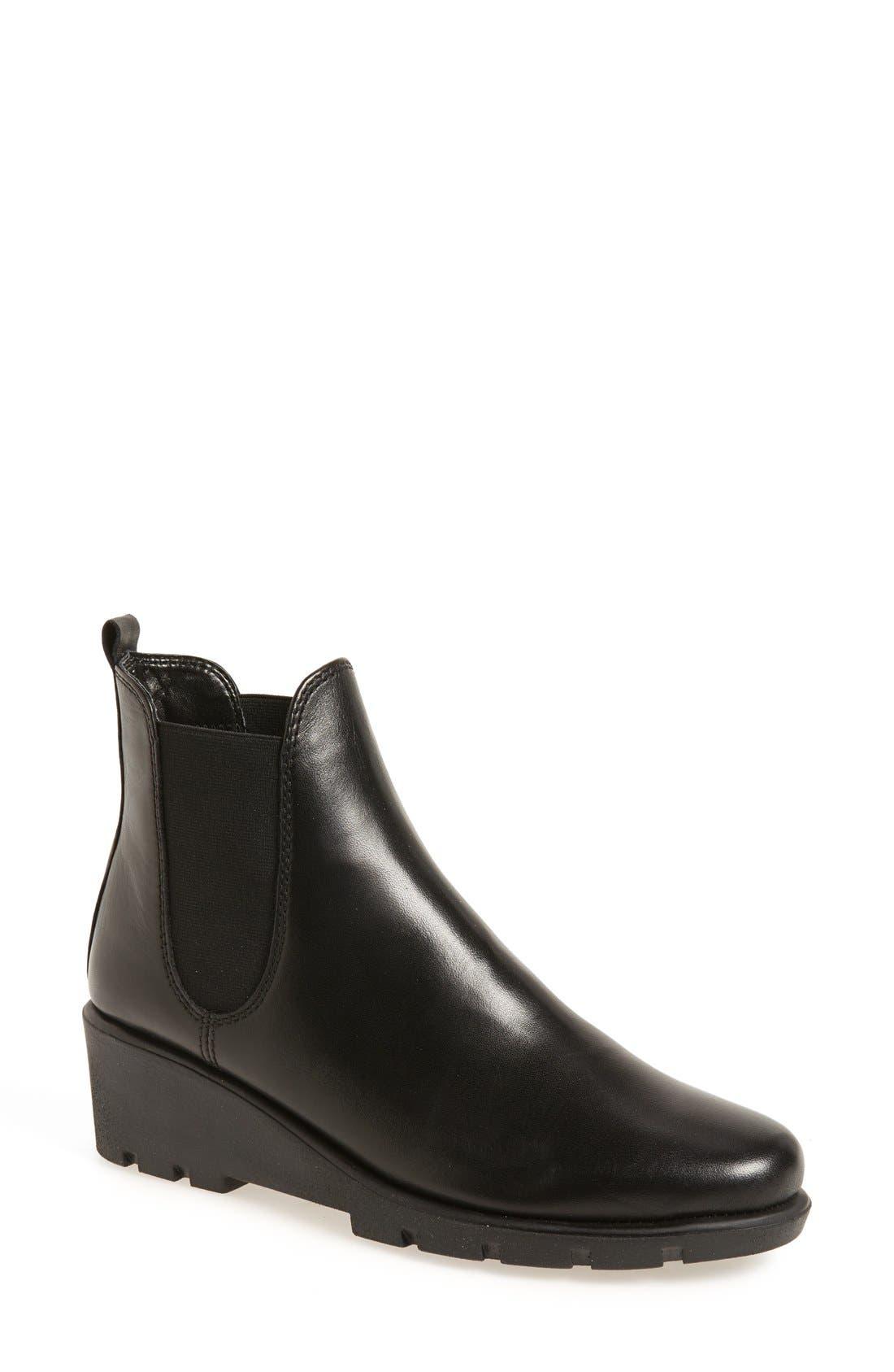 2016 Hot Sale Gabor Ottawa Leather Ankle Boots Women Black FSJX26