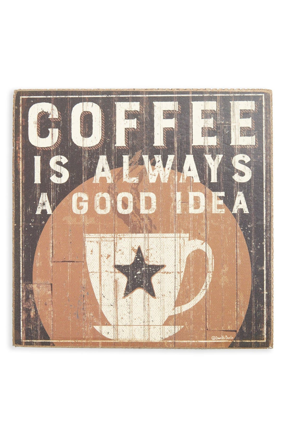 Main Image - Primitives by Kathy 'Coffee is Always a Good Idea' Box Sign