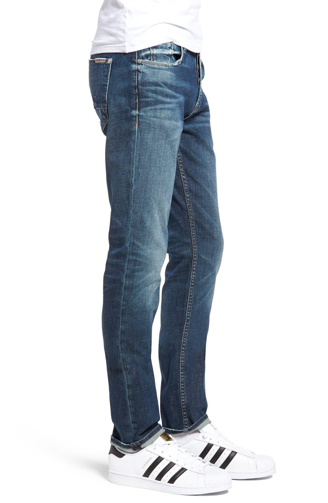 Alternate Image 3  - Hudson Jeans Sartor Slouchy Skinny Fit Jeans (Deserter)