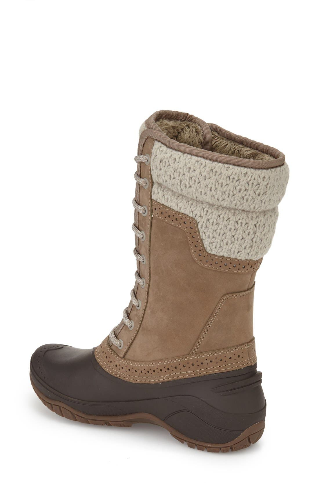 Shellista Waterproof Insulated Snow Boot,                             Alternate thumbnail 2, color,                             Split Rock Brown/ Dove Grey