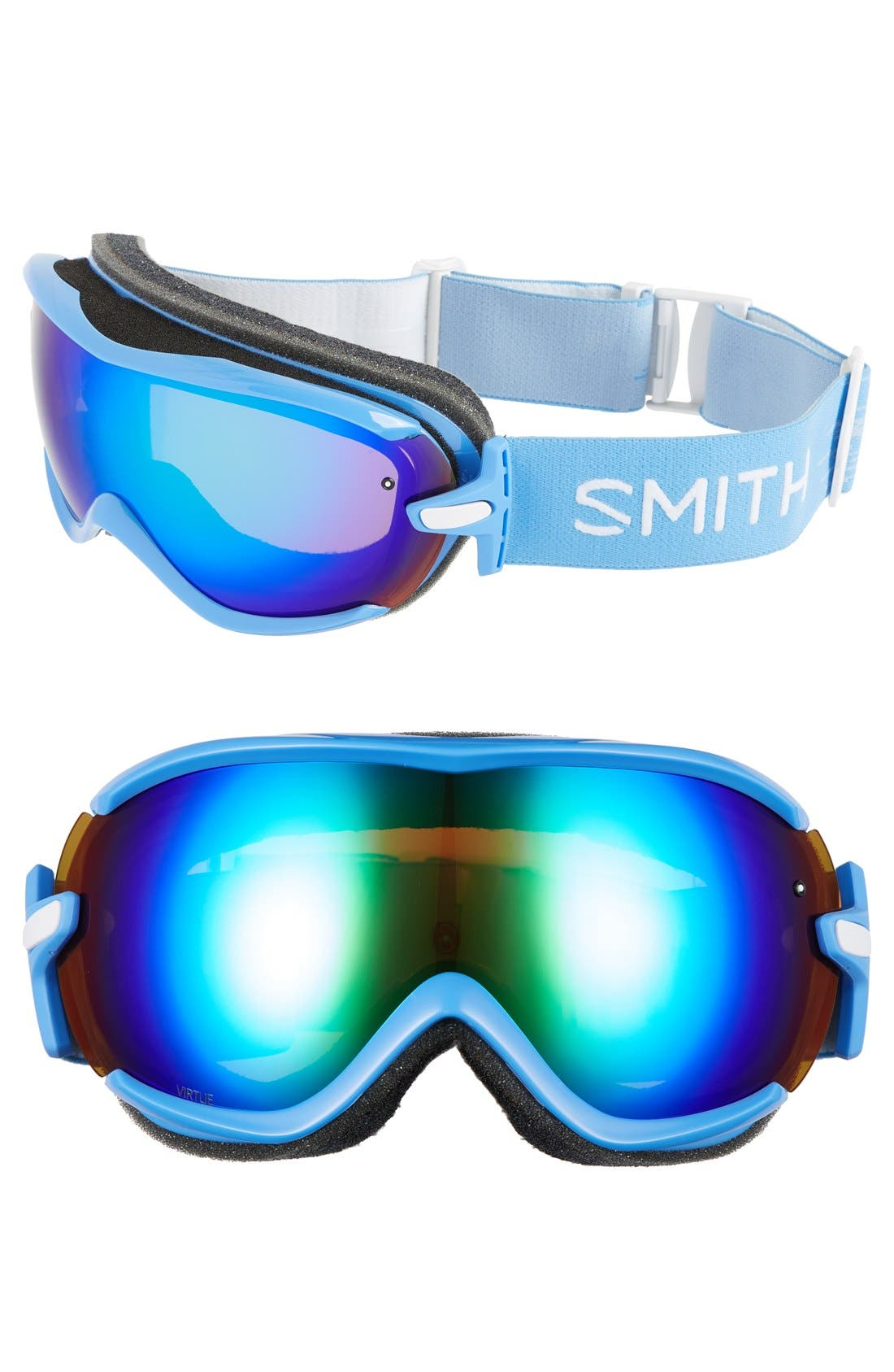 'Virtue' Snow Goggles - French Blue/ Green Mirror