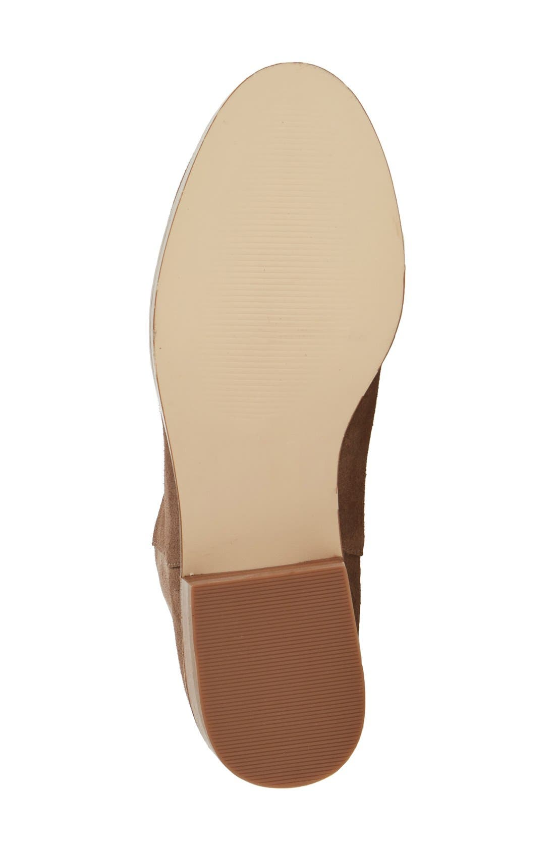 Calypso Over the Knee Boot,                             Alternate thumbnail 4, color,                             Taupe Suede