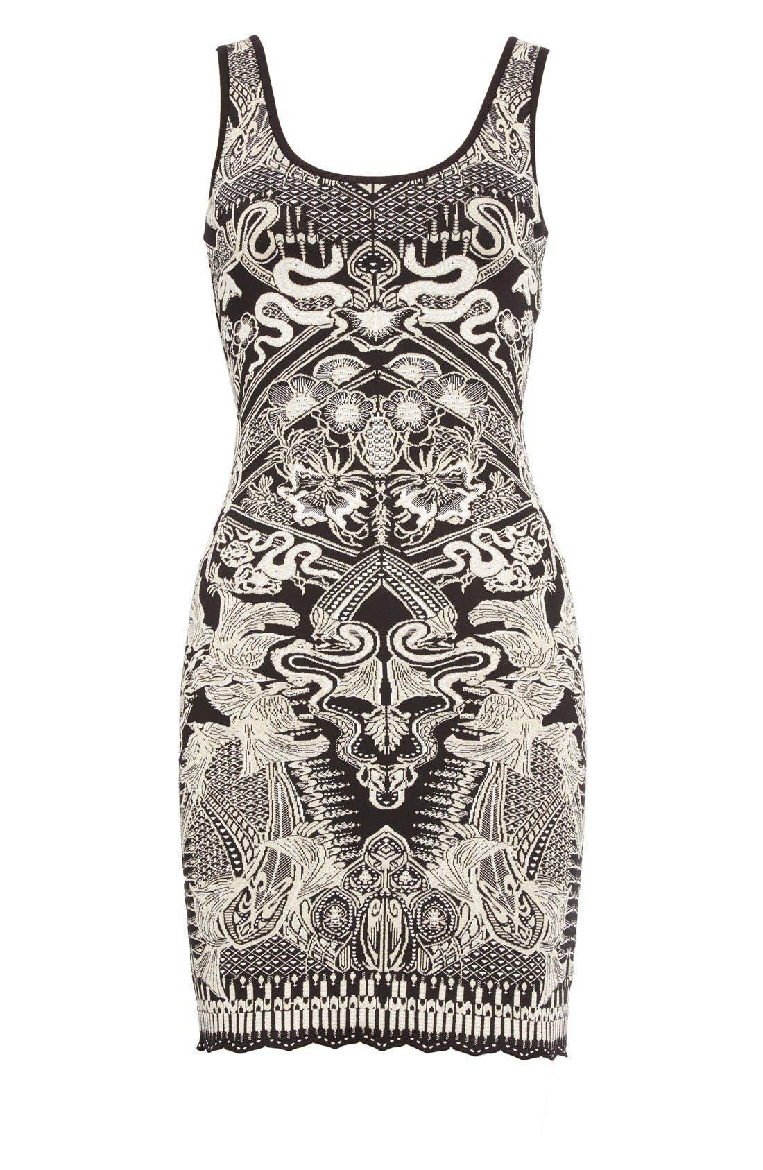 Alternate Image 4  - Roberto Cavalli Jacquard Knit Dress