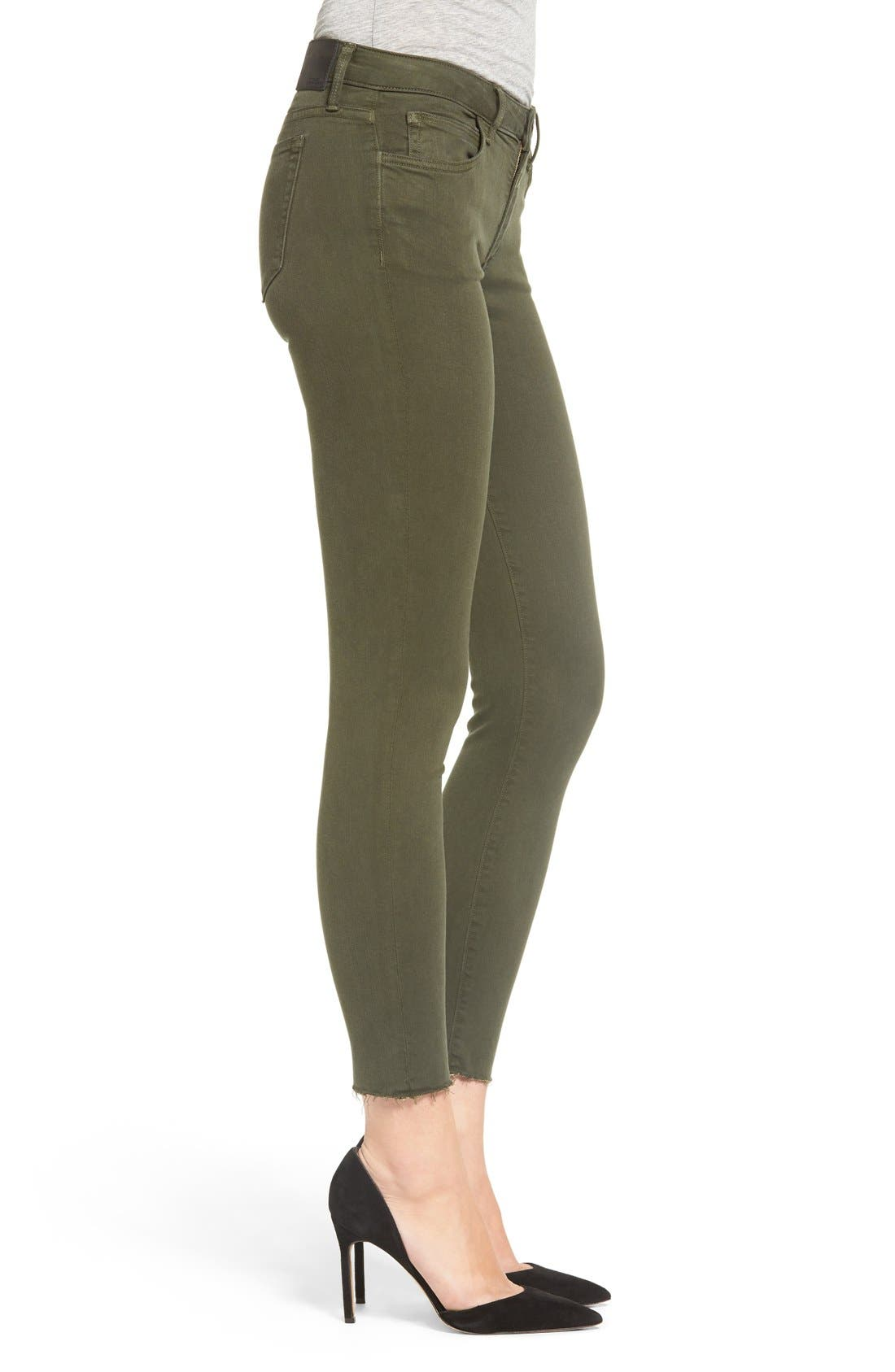 Icon Ankle Skinny Jeans,                             Alternate thumbnail 4, color,                             Military Green