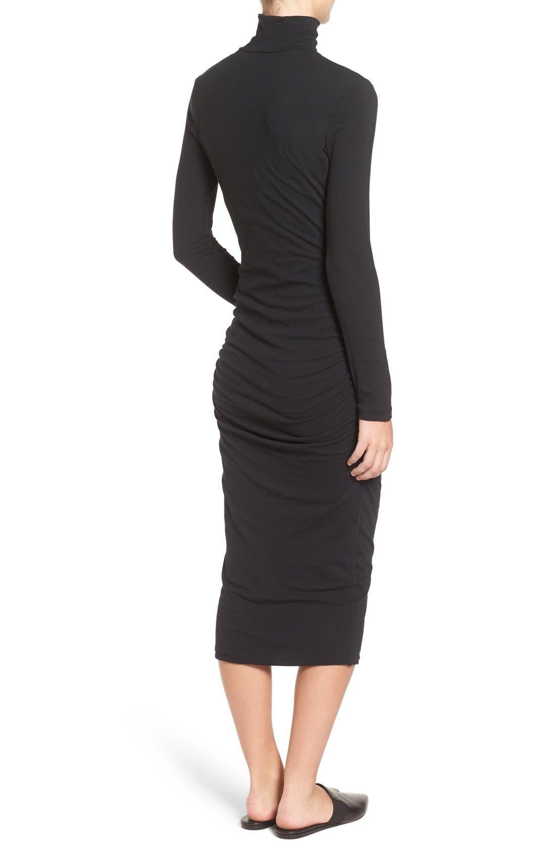 Alternate Image 2  - James Perse Turtleneck Midi Dress
