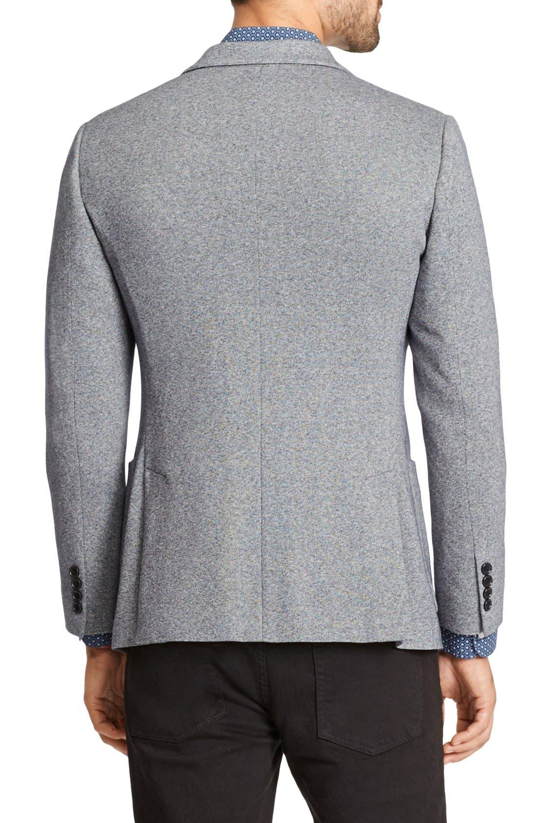 Jetsetter Trim Fit Knit Cotton Blazer,                             Alternate thumbnail 2, color,                             Light Grey