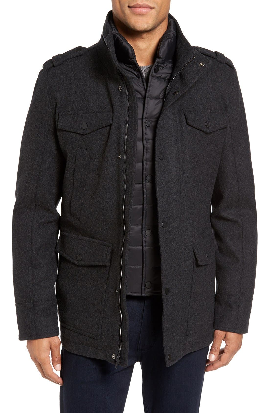 Alternate Image 1 Selected - Vince Camuto Austin Wool Blend Military Coat