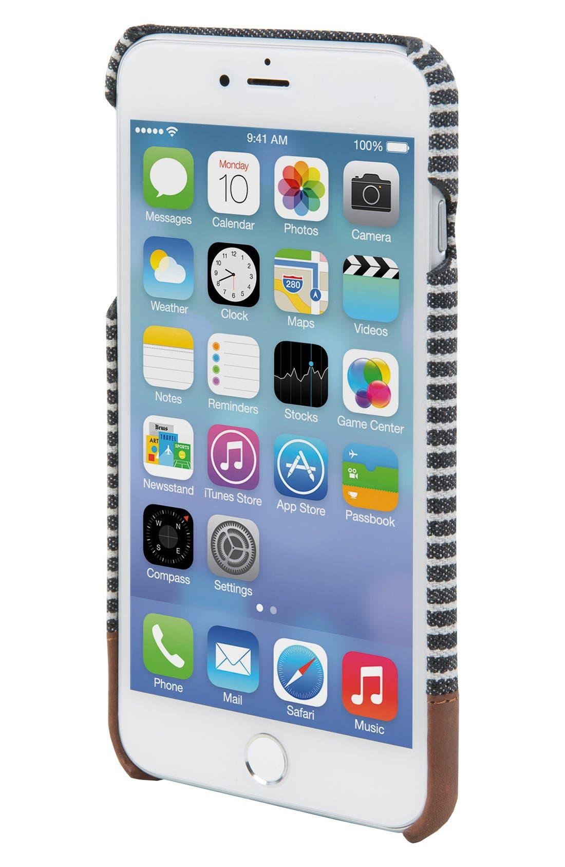 Focus iPhone 7/8 Plus Case,                             Alternate thumbnail 2, color,                             Black/ Grey Stripe Canvas
