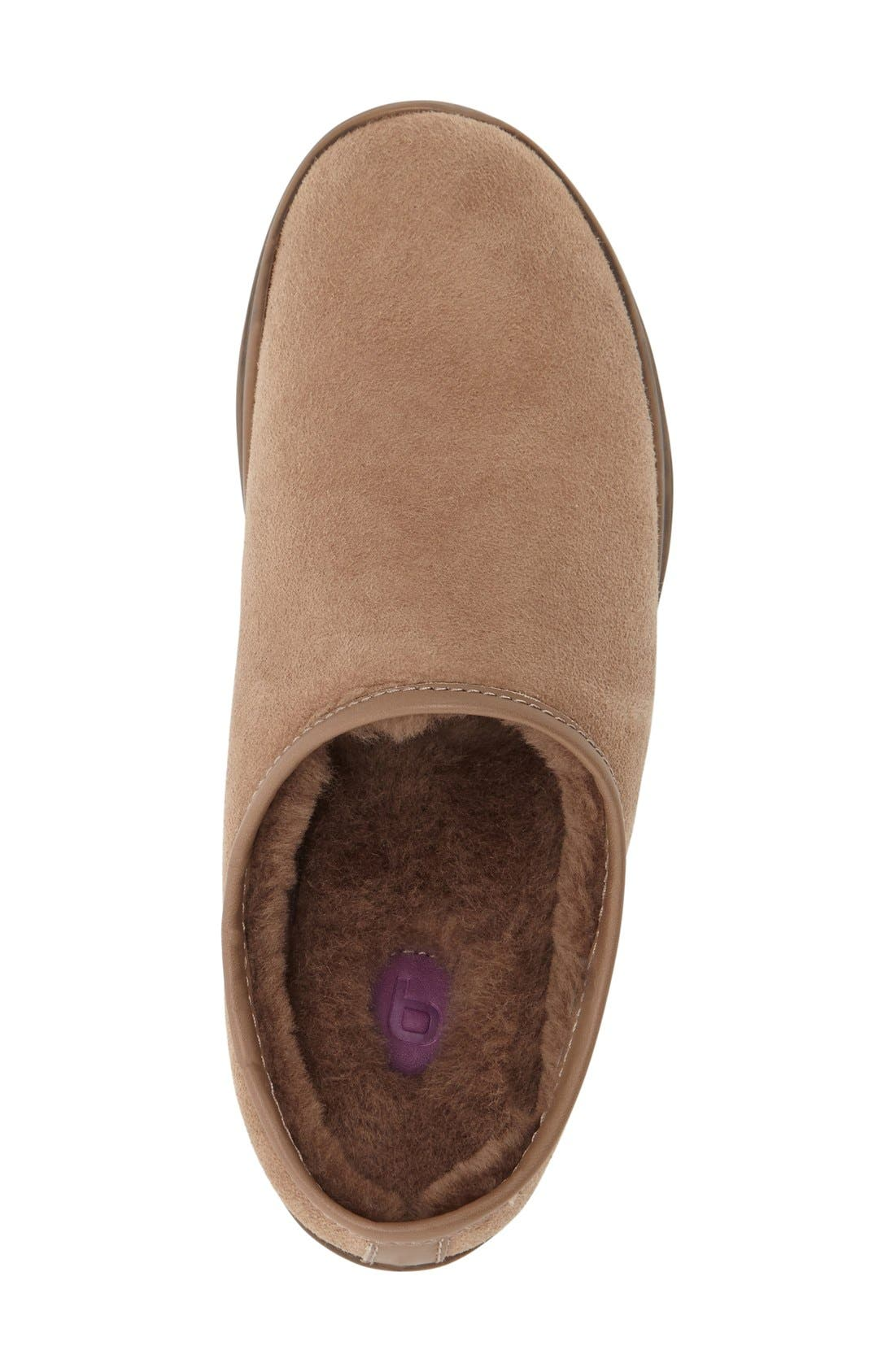 'Stamford' Genuine Shearling Clog Slipper,                             Alternate thumbnail 2, color,                             Stone Shearling/ Leather