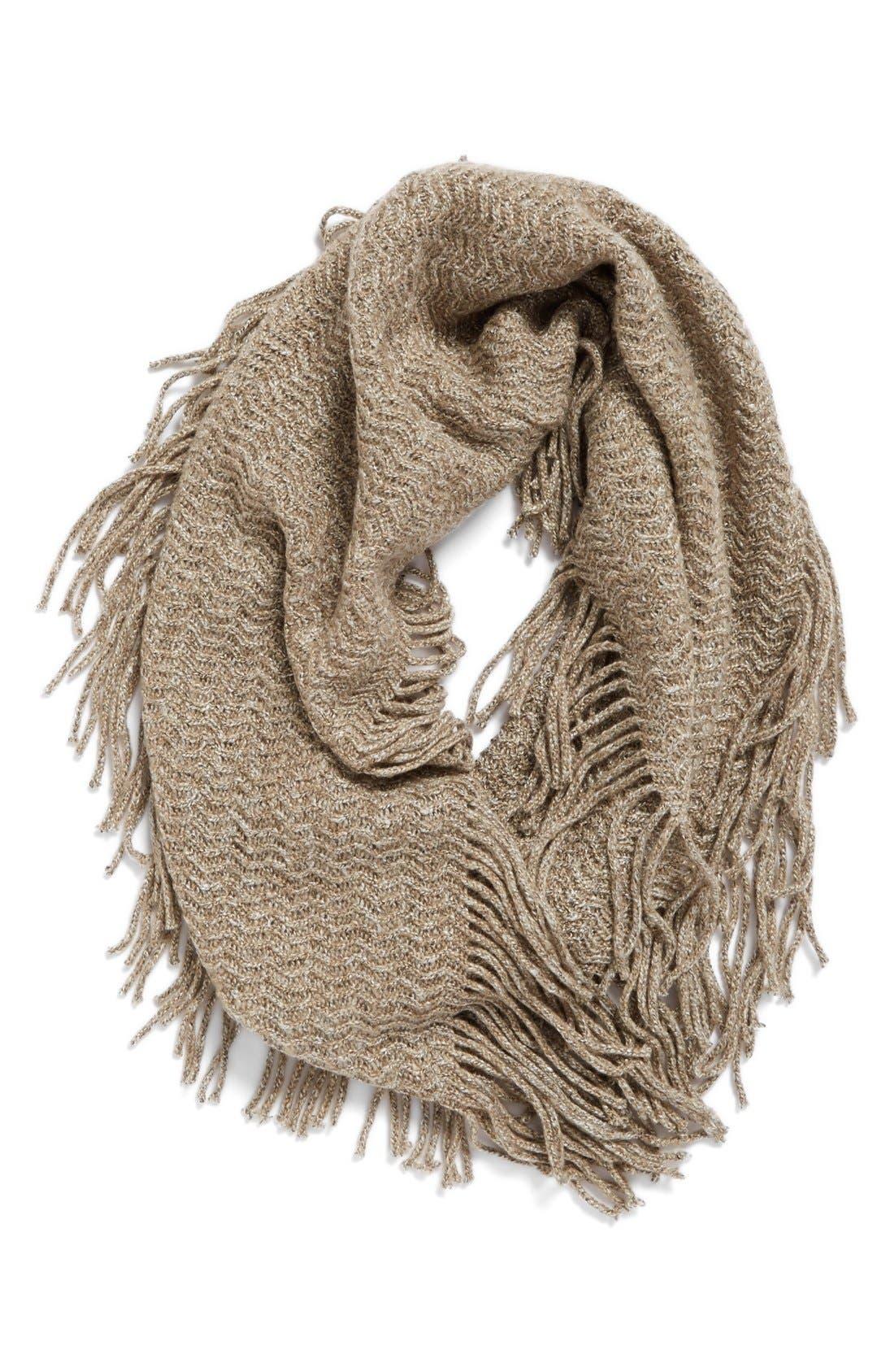 Main Image - BP. Marled Knit Fringe Infinity Scarf