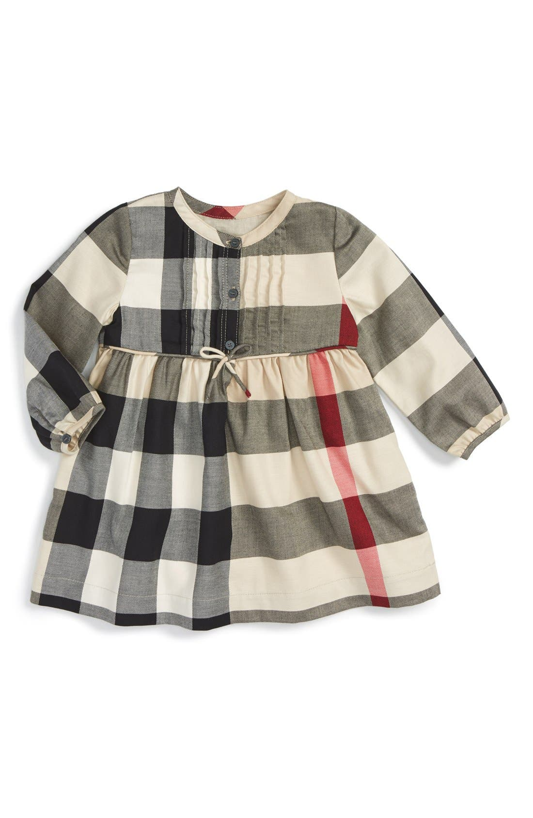 Burberry Emalie Check Cotton Flannel Dress Baby Girls