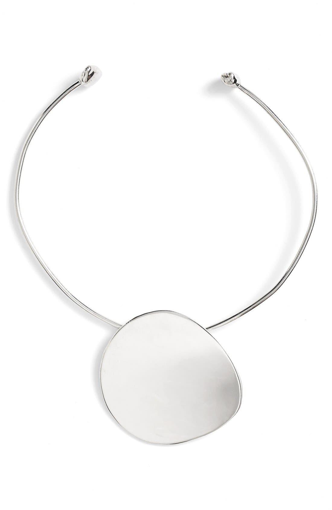 Pendo Collar Necklace,                             Main thumbnail 1, color,                             Silver