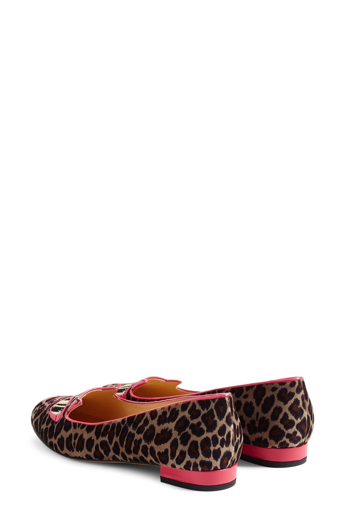 Alternate Image 3  - Charlotte Olympia x Barbie® Pretty In Pink Kitty Flat (Women)