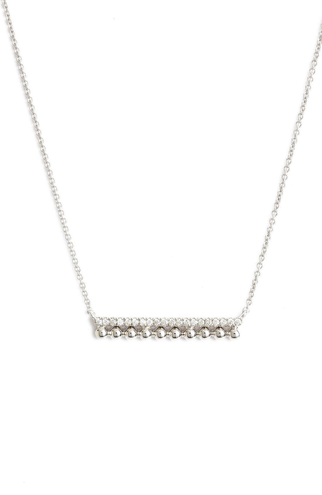 Alternate Image 1 Selected - Dana Rebecca Designs 'Poppy Rae' Bar Pendant Necklace