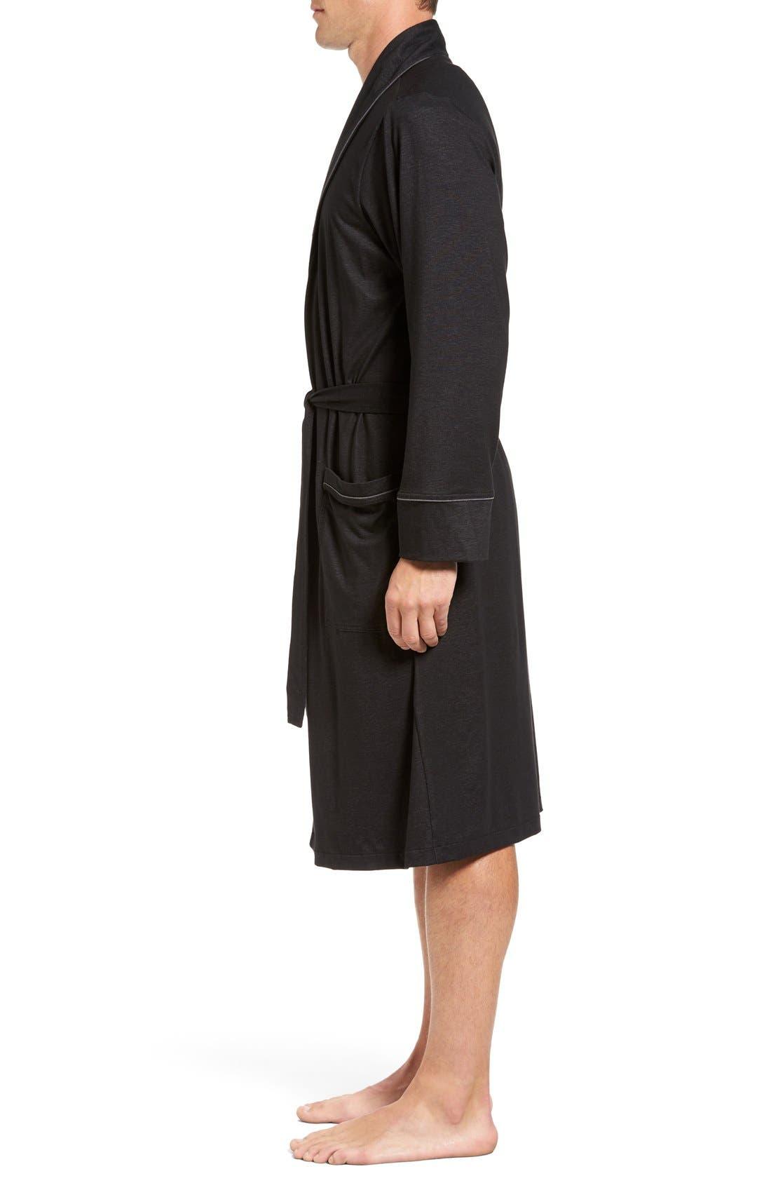 Alternate Image 3  - Nordstrom Men's Shop Cotton Blend Robe
