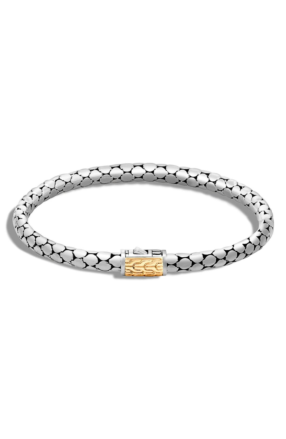 'Dot' Small Bracelet,                             Main thumbnail 1, color,                             Silver/ Gold