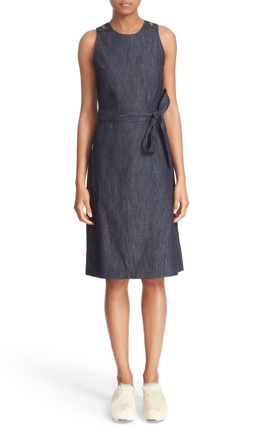 Alternate Image 1 Selected - Tomas Maier Belted Denim Dress